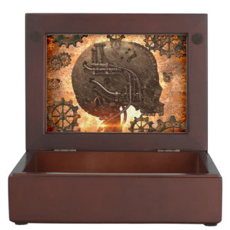 Awesome steampunk Skull Keepsake Boxes