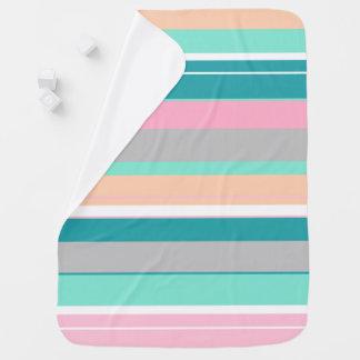 Awesome Stylish Pastel Stripes Baby Blanket