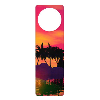 Awesome sunset in pink and gold door hanger