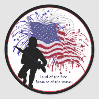 Awesome Support Our Troops Sticker Second Version