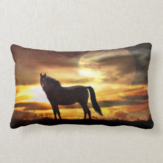 Awesome Surreal Horse in the Moon Throw Pillow Cushion
