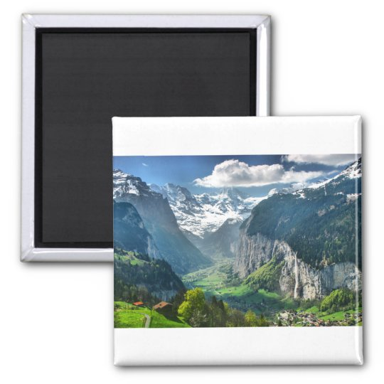 Awesome Switzerland Alps Square Magnet