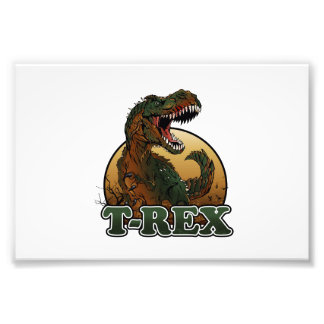 awesome t-rex brown and green illustration photo