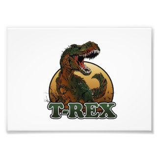 awesome t-rex brown and green illustration photograph