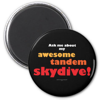 Awesome Tandem Skydive 6 Cm Round Magnet