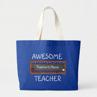 Awesome Teacher Large Tote Bag Template
