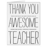 Awesome Teacher Thank You Big Greeting Card