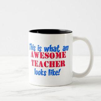 Awesome Teacher Two-Tone Mug