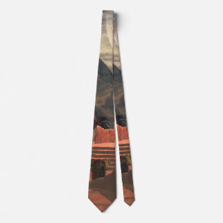 Awesome temple in the sunset tie
