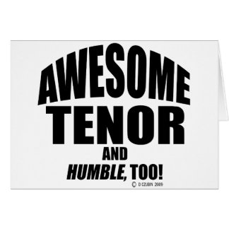 Awesome Tenor Card
