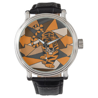 Awesome Tiger Abstract Art Watch