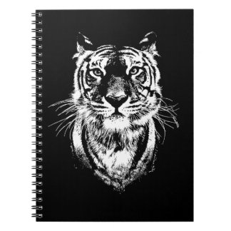 Awesome tiger cat portrait. Wildlife Spiral Notebook