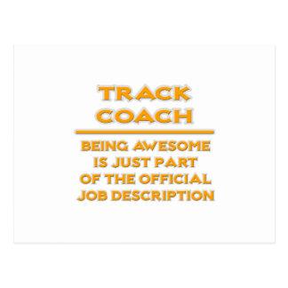 Awesome Track Coach .. Job Description Postcard