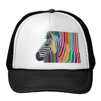 awesome trendy colourful vibrant stripes zebra cap