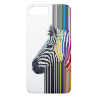 awesome trendy colourful vibrant stripes zebra iPhone 7 plus case