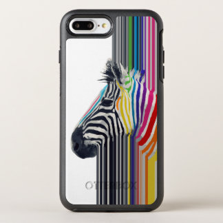 awesome trendy colourful vibrant stripes zebra OtterBox symmetry iPhone 8 plus/7 plus case