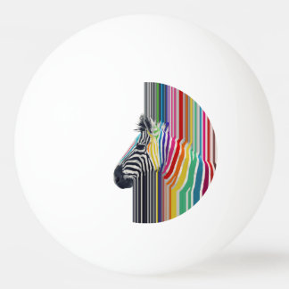 awesome trendy colourful vibrant stripes zebra ping pong ball