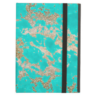 Awesome trendy modern faux gold glitter marble iPad air covers