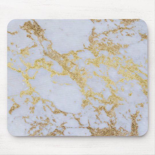 Awesome trendy modern faux gold glitter marble mouse
