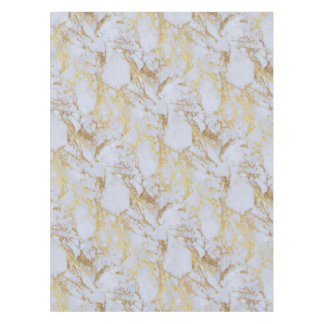 Awesome trendy modern faux gold glitter marble tablecloth