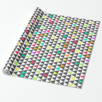 Awesome trendy retro geometric triangle pattern wrapping paper