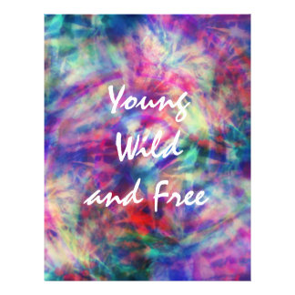 Awesome trendy tribal tie dye young wild and free 21.5 cm x 28 cm flyer