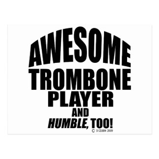 Awesome Trombone Player Postcard