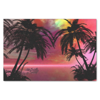 Awesome tropical sunset tissue paper