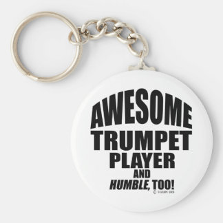 Awesome Trumpet Player Key Ring