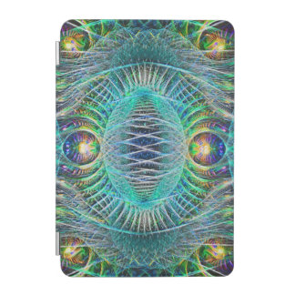 Awesome turquoise Fractal Art iPad Mini Cover