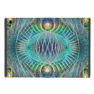 Awesome turquoise Fractal Art iPad Mini Covers