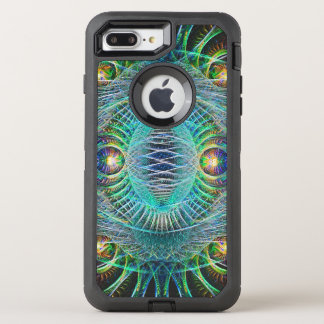 Awesome turquoise Fractal Art OtterBox Defender iPhone 8 Plus/7 Plus Case