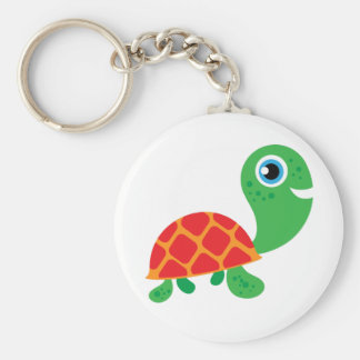 Awesome Turtle Basic Round Button Key Ring
