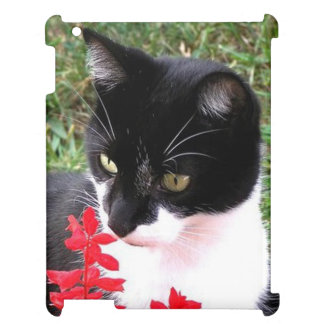 Awesome Tuxedo Cat in Garden Cover For The iPad 2 3 4