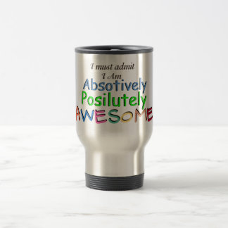 Awesome Typography Travel Mug