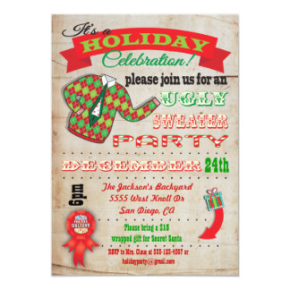 Awesome Ugly Sweater Christmas Party Invitation