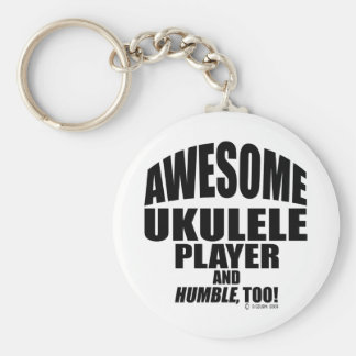 Awesome Ukulele Player Basic Round Button Key Ring