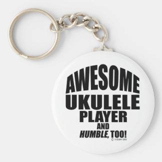 Awesome Ukulele Player Key Ring
