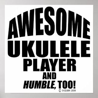 Awesome Ukulele Player Poster