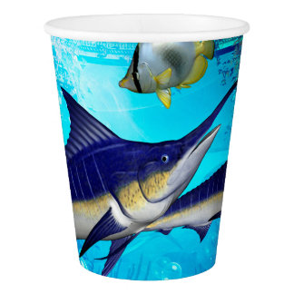 Awesome underwater world paper cup