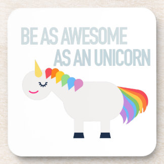 Awesome Unicorn Hard Plastic coasters