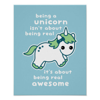 Awesome Unicorn Poster