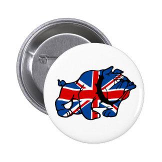 Awesome Union Jack 6 Cm Round Badge