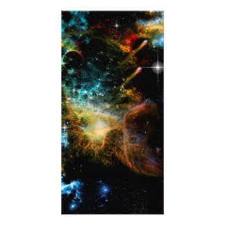 Awesome universe photo card