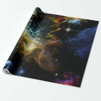 Awesome universe wrapping paper