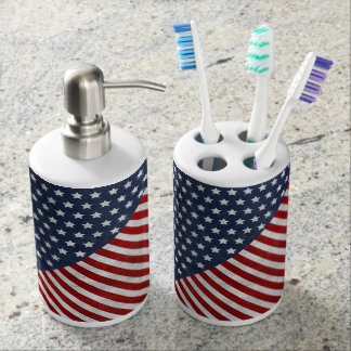awesome USA flag grunge stars stripes american Soap Dispenser And Toothbrush Holder