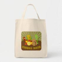 Awesome Veggies Rock! Tote Bag