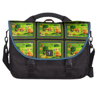 Awesome Victorian Golf Course Pattern Colorful Laptop Computer Bag