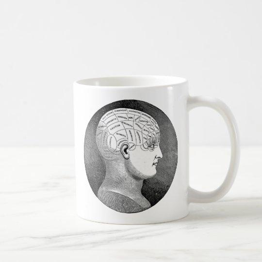 Awesome Vintage Art Phrenology head Diagram Coffee Mug