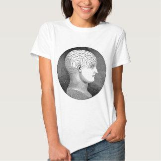 Awesome Vintage Art Phrenology head Diagram Shirt